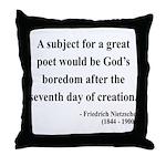 Nietzsche 26 Throw Pillow