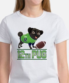 12th Pug Black (SPR) Tee