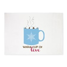 Cup Of Love 5'x7'Area Rug