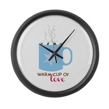 Cup Of Love Large Wall Clock