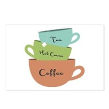 Hot Drinks Postcards (Package of 8)