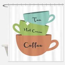 Hot Drinks Shower Curtain