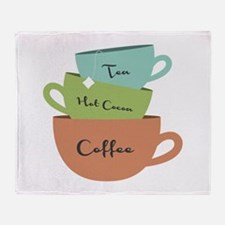Hot Drinks Throw Blanket