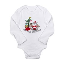 Unique Twins first christmas Long Sleeve Infant Bodysuit
