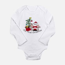 Cute Twins first christmas Long Sleeve Infant Bodysuit