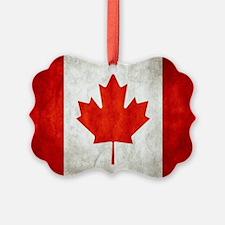 Vintage Canadian Flag Ornament