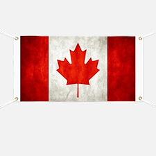 Vintage Canadian Flag Banner
