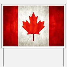 Vintage Canadian Flag Yard Sign