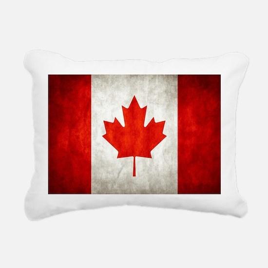 Vintage Canadian Flag Rectangular Canvas Pillow
