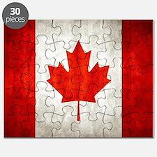 Vintage Canadian Flag Puzzle