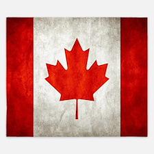 Vintage Canadian Flag King Duvet