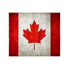 Vintage Canadian Flag Throw Blanket
