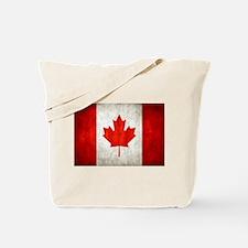 Vintage Canadian Flag Tote Bag