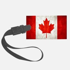 Vintage Canadian Flag Luggage Tag