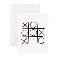 Tic Tac Toe Greeting Cards