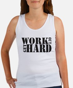 Work Out Get Hard - solid black Tank Top