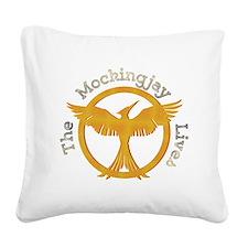 The Mockingjay Lives Square Canvas Pillow