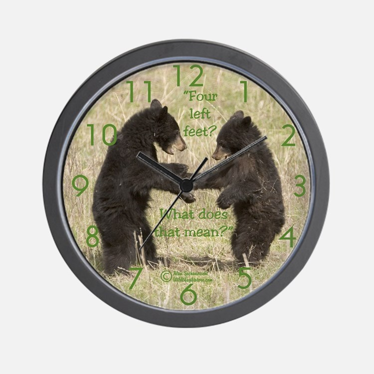 "NEW!! ""Four Left Feet"" Wall Clock"