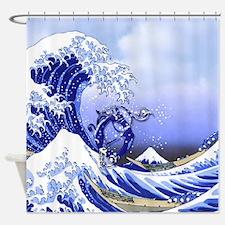 Monogram O Surf's Up! Shower Curtain