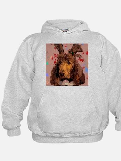 Cool Red poodle Hoodie
