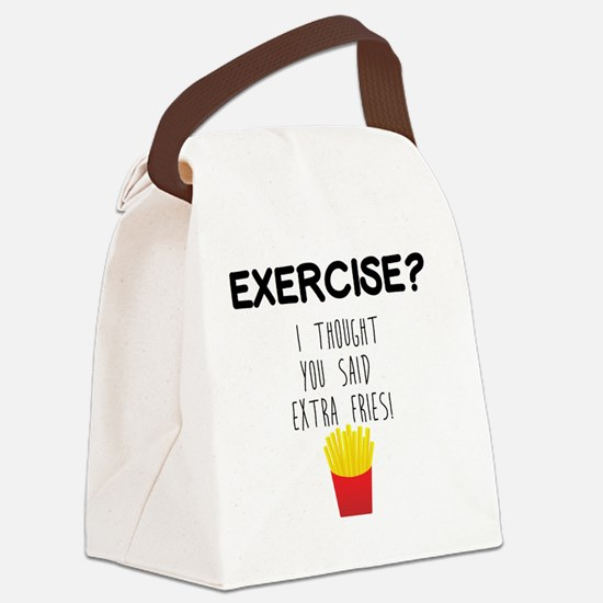 Funny Funny gym Canvas Lunch Bag
