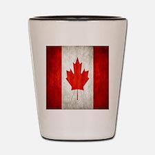 Vintage Canadian Flag Shot Glass