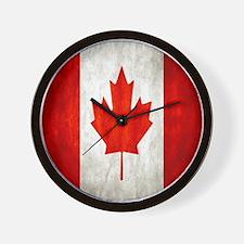 Vintage Canadian Flag Wall Clock
