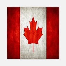 Vintage Canadian Flag Queen Duvet