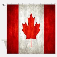 Vintage Canadian Flag Shower Curtain