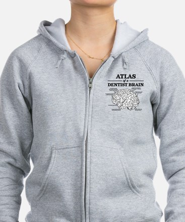 Atlas of a Dentist Brain Zip Hoodie