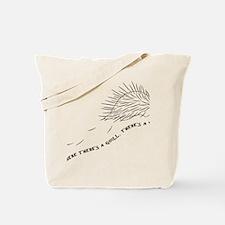 Funny Porcupine Tote Bag