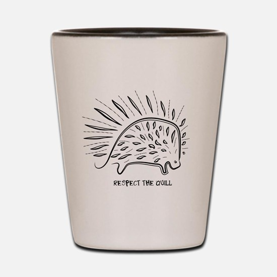 Funny Porcupine Shot Glass