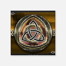 "Atav Celtic Triquetra Square Sticker 3"" x 3"""