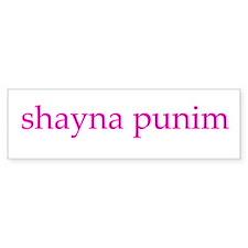Shayna Punim Bumper Bumper Sticker