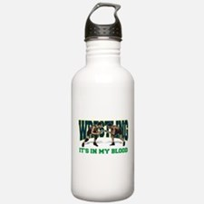 wrestling31light.png Water Bottle