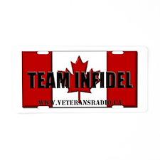 Team Infidel Flag Aluminum License Plate