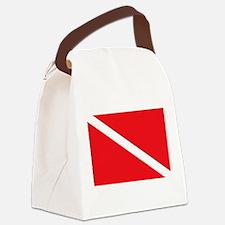scuba32.png Canvas Lunch Bag