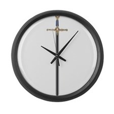 masonic sword Large Wall Clock