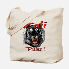 Kali Black Tiger Design Tote Bag