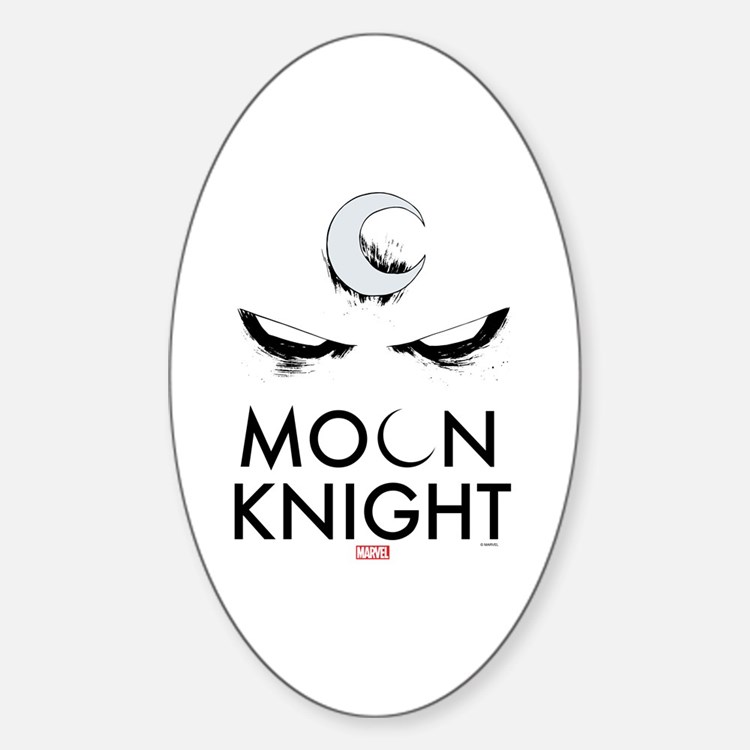 Moon Knight Face Tall Sticker (Oval)
