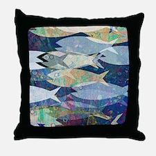 Cute Fish art Throw Pillow