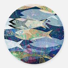 Cute Fish Round Car Magnet