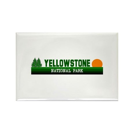 Yellowstone National Park Rectangle Magnet (10 pac