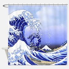 Monogram Q Surf's Up! Shower Curtain