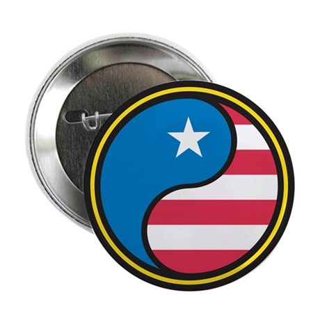 """American Yin Yang 2.25"""" Button (10 pack)"""