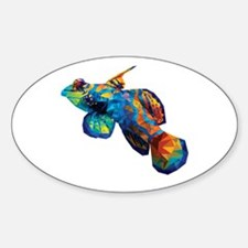 Geometric Abstract Mandarin Dragonette Gob Decal