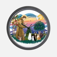 StFrancis-Lab & Sheltie Wall Clock
