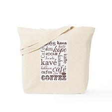 The Language of Coffee Tote Bag
