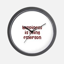 happiness is being Emerson Wall Clock
