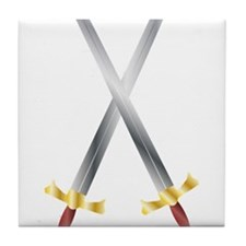 swords Tile Coaster